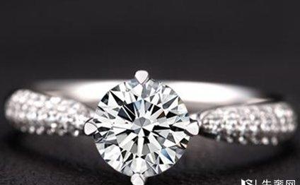 通灵18k白金钻石戒指回收价格什么样