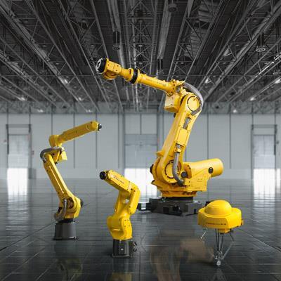 发那科机器人标志性的亮黄色