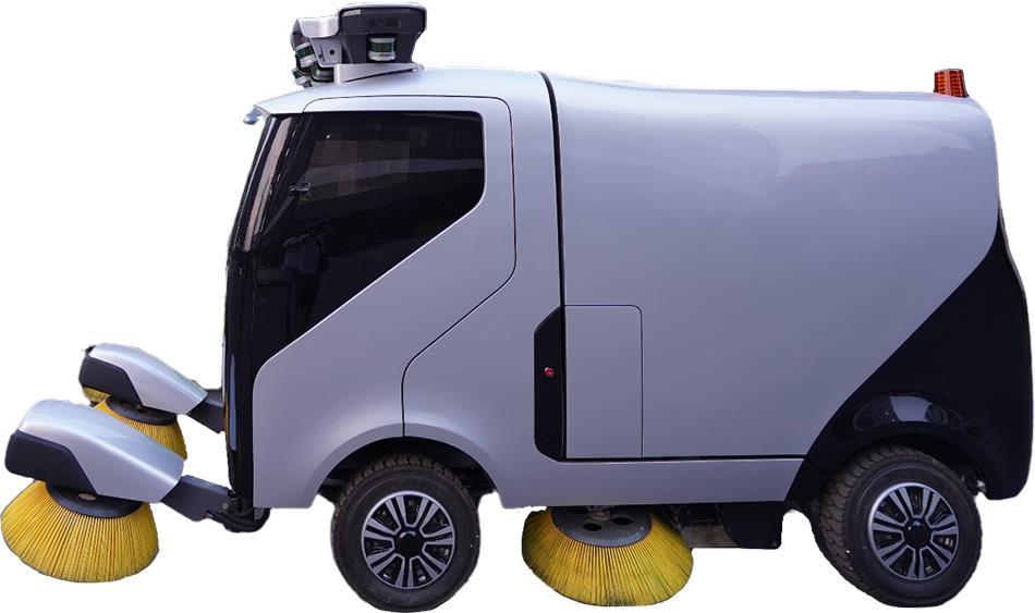 美国AutowiseDotAIInc.公司将在进博会展出自动驾驶清扫概念车 受访者供图