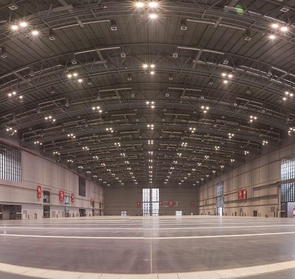 3H馆是目前国家会展中心(上海)唯一的单层无柱展厅。