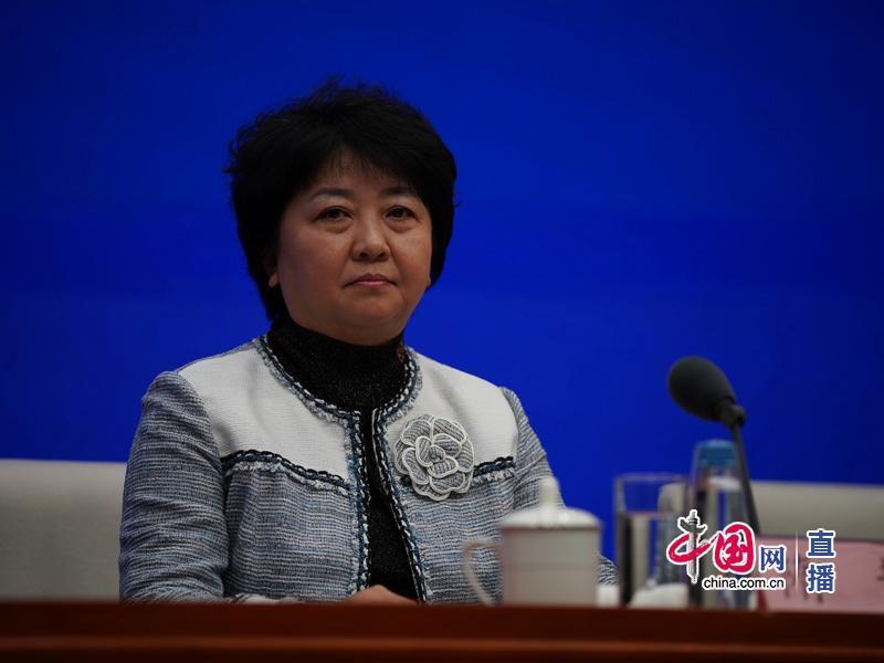 工业和信息化部信息通信管理局负责人隋静。 中国网 图