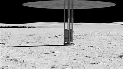 月球上核裂变动力系统的艺术图。 图片来源:CNBC网站