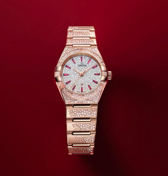 欧米茄 (OMEGA) 全新星座系列珠宝腕表Sedna 18K金款