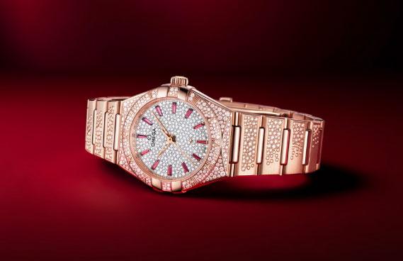 欧米茄全新星座系列珠宝腕表Sedna 18K金款