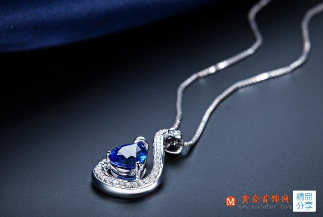 宝石,蓝宝石,宝石吊坠