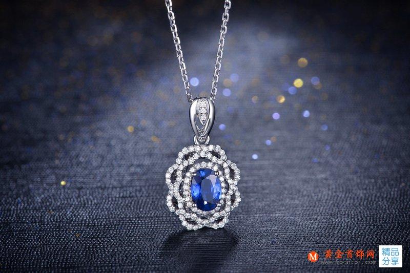 黄金首饰网蓝宝石钻石吊坠怎么保养
