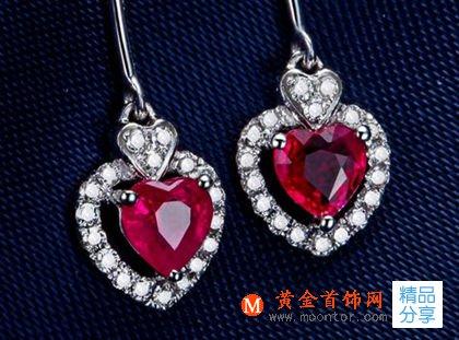 红宝石,耳环,耳坠