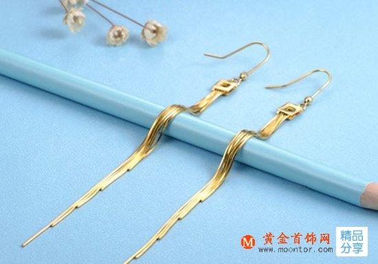 黄金耳环,黄金首饰网耳环,耳环