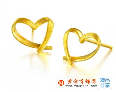 黄金首饰,黄金耳钉,耳饰