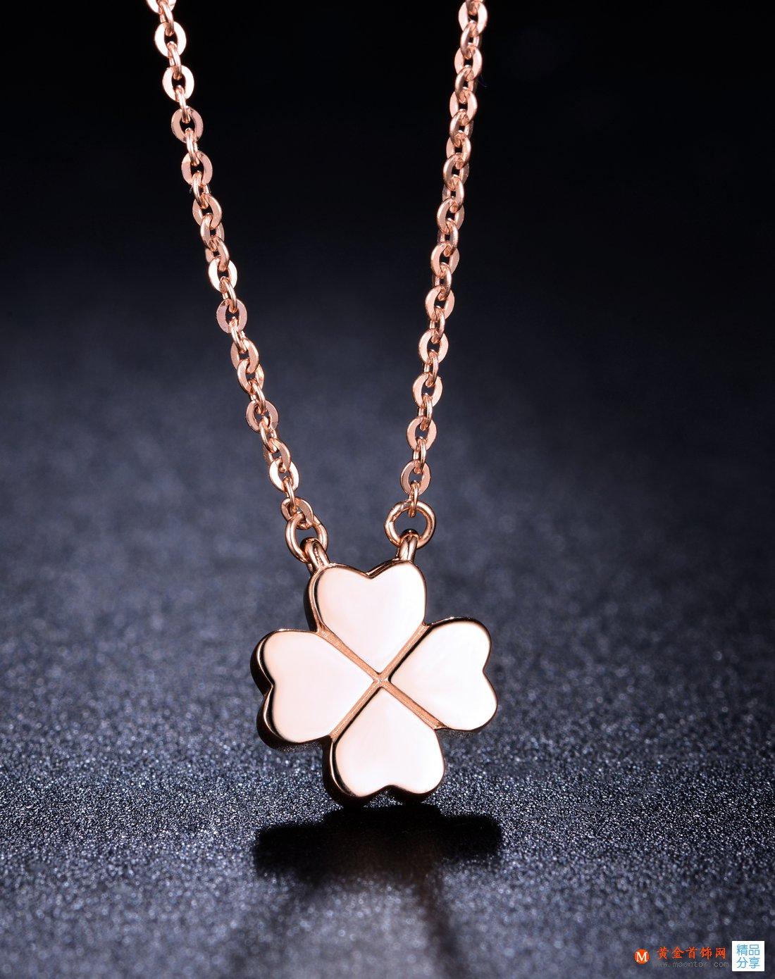 项链,玫瑰金项链,女士项链,黄金首饰网玫瑰金项链的挑选