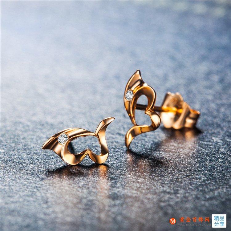 黄金首饰网钻石耳钉要如何清洗与保养