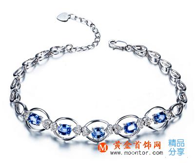 蓝宝石手链,蓝宝石,黄金首饰网