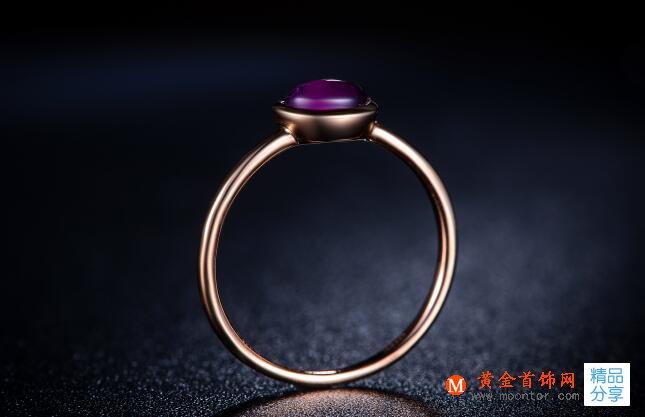 戒指,紫晶戒指,黄金首饰网