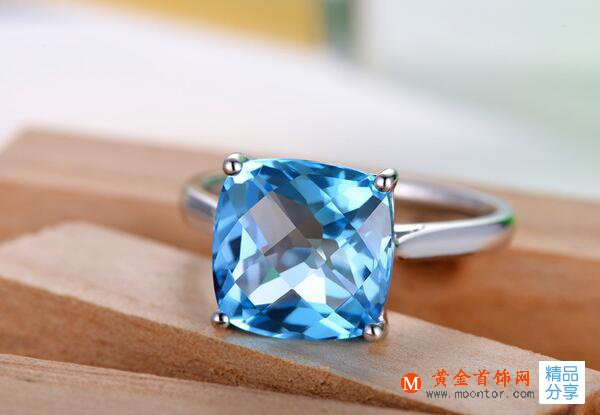 戒指,托帕石戒指,黄金首饰网