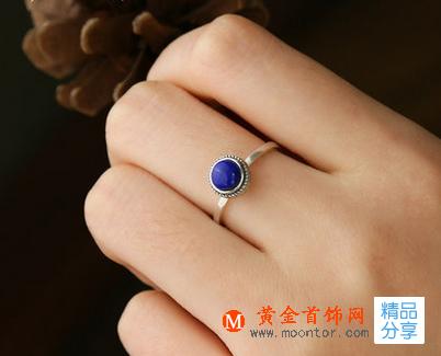 戒指,青金石戒指,黄金首饰网