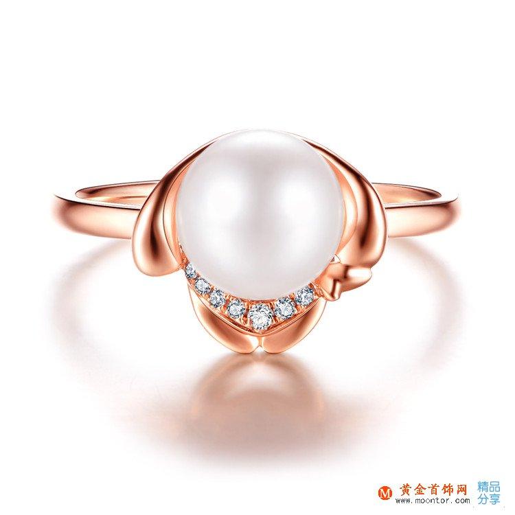 戒指,珍珠戒指,黄金首饰网戒指
