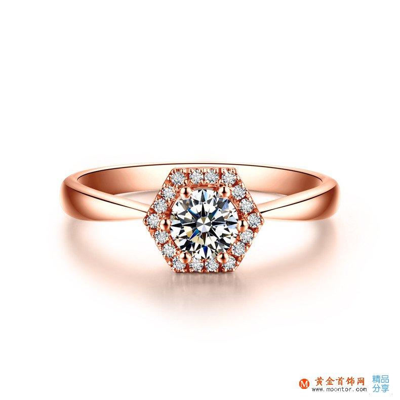 戒指,玫瑰金戒指,黄金首饰网戒指