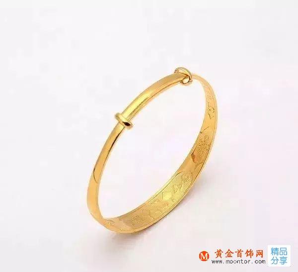 适合年轻人的黄金手镯_今年流行黄金手镯款式