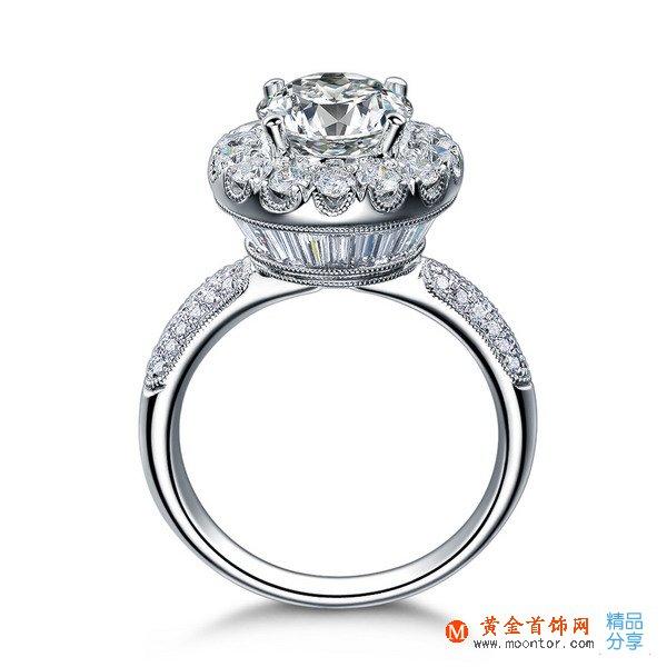 》》点击进入【梦幻城堡】 白18K金400分/4克拉钻石女士戒指
