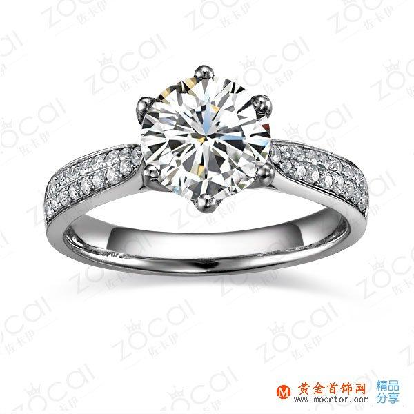 》》点击进入【风华绝代】 白18k金100分/1克拉钻石戒指