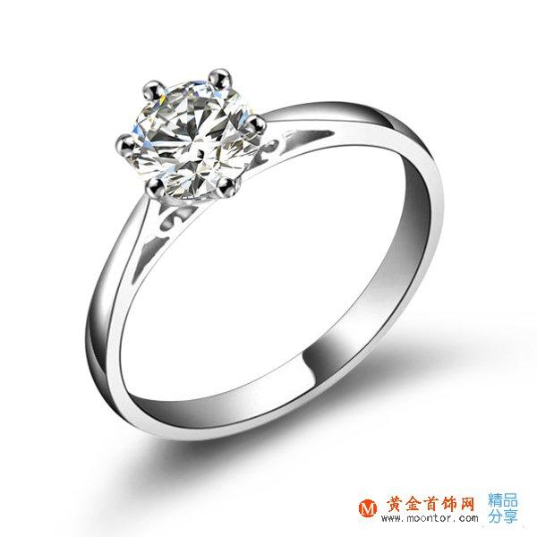 》》点击进入【倾世皇冠】 PT950铂金30分/0.3克拉钻石戒指