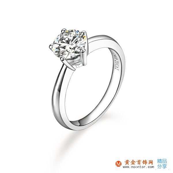 》》点击进入【闪烁】 PT950铂金50分/0.5克拉钻石戒指