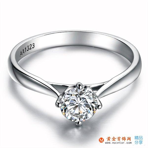 》》点击进入【典美系列】 PT950铂金30分/0.3克拉钻石戒指