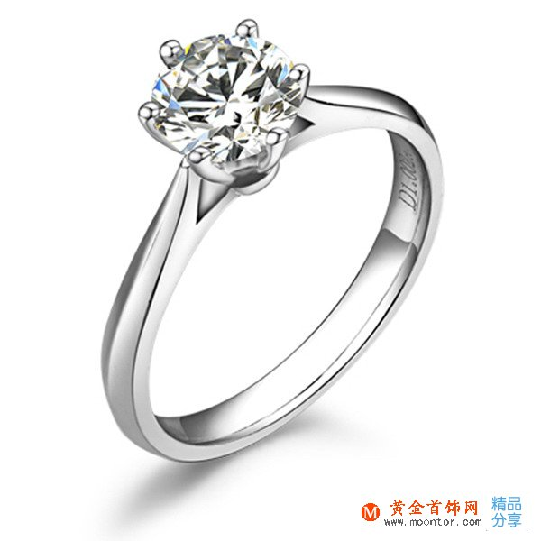 【挚爱】 18K白金40分/0.4克拉钻石戒指