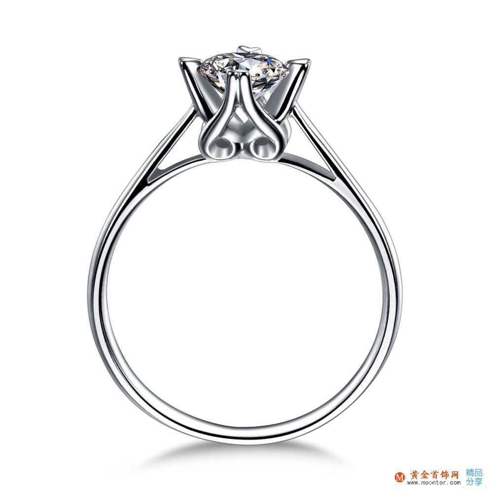 》》点击进入【典雅】 白18k金24分/0.24克拉钻石戒指