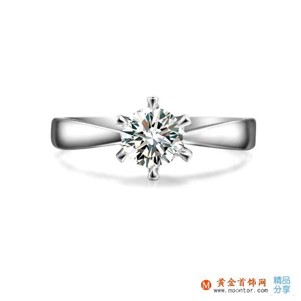 》》点击进入【一世倾情】 53分/0.53克拉PT950铂金钻石戒指