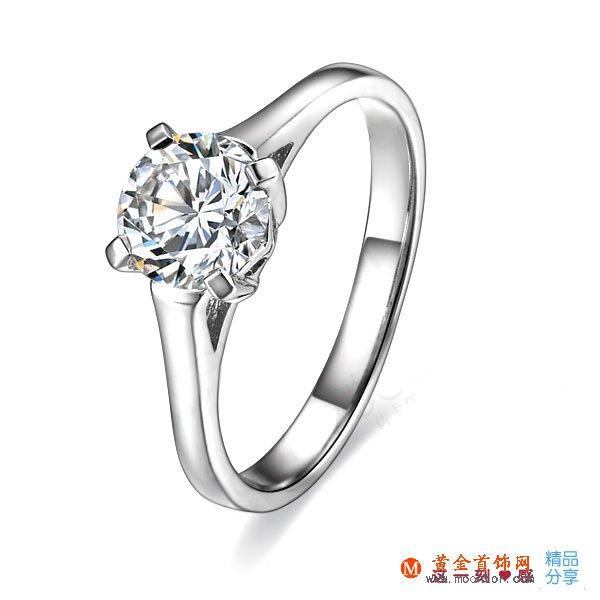 》》点击进入【铭记】 白18k金40分/0.4克拉钻石戒指