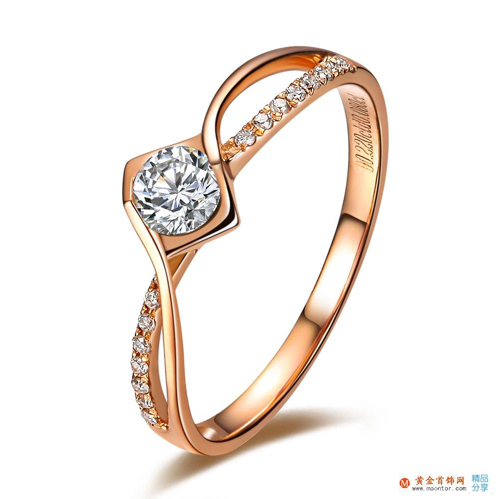 》》点击进入【吻爱】 12分/0.12克拉玫瑰金钻石戒指