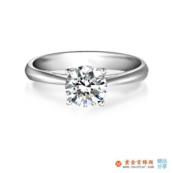》》点击进入【国色天香】 PT950铂金50分/0.5克拉钻石女士戒指