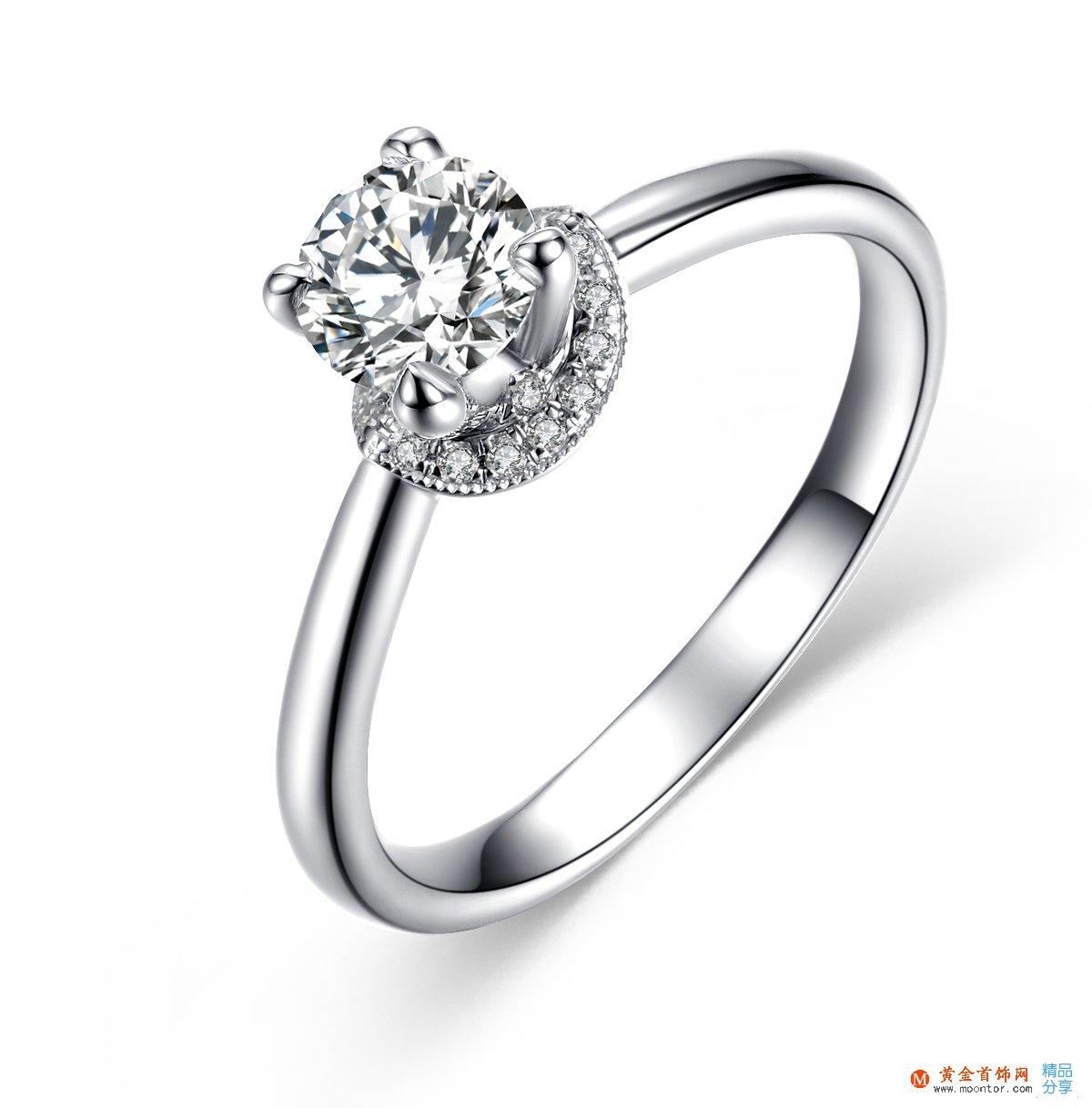 》》点击进入【一生牵绊】 白18K金55分/0.55克拉钻石女士戒指