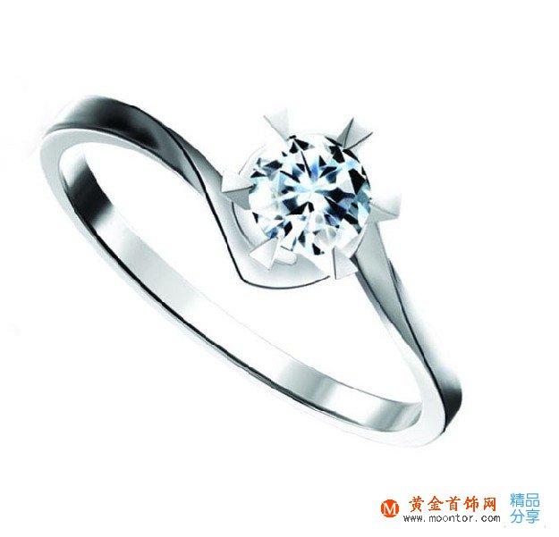 》》点击进入【颂歌】 白18K金10分/0.1克拉钻石女士戒指