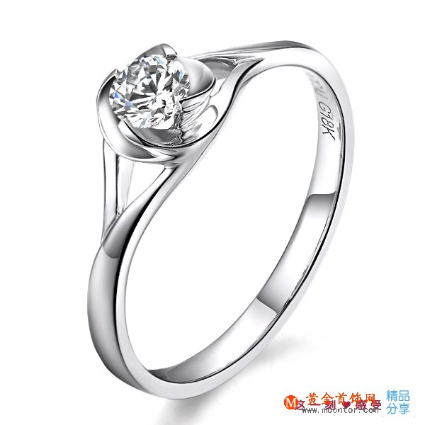》》点击进入【艳耀】 白18K金22分/0.22克拉钻石女士戒指