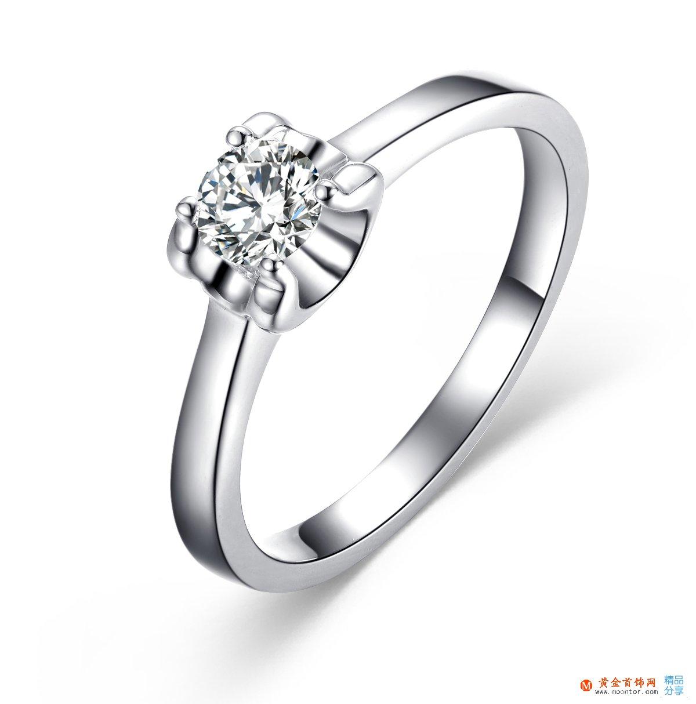 》》点击进入【梦想】 白18K金30分/0.3克拉钻石戒指