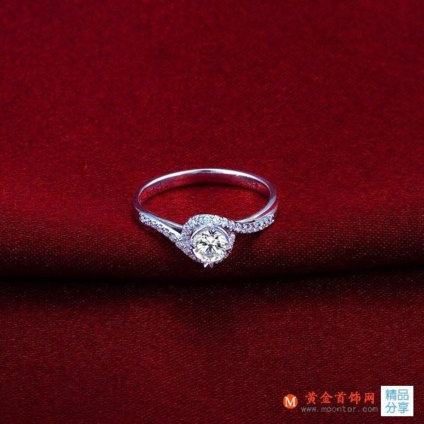 》》点击进入【拥爱】 白18K金30分/0.30克拉钻石女士戒指
