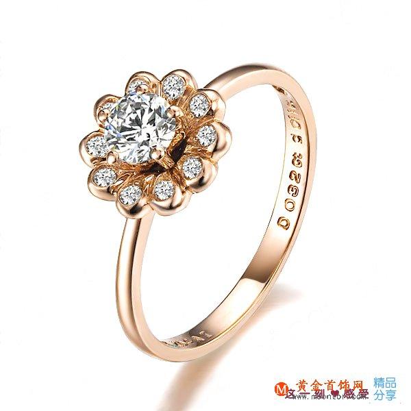 》》点击进入【绽放】 玫瑰金32分/0.32克拉钻石女士戒指