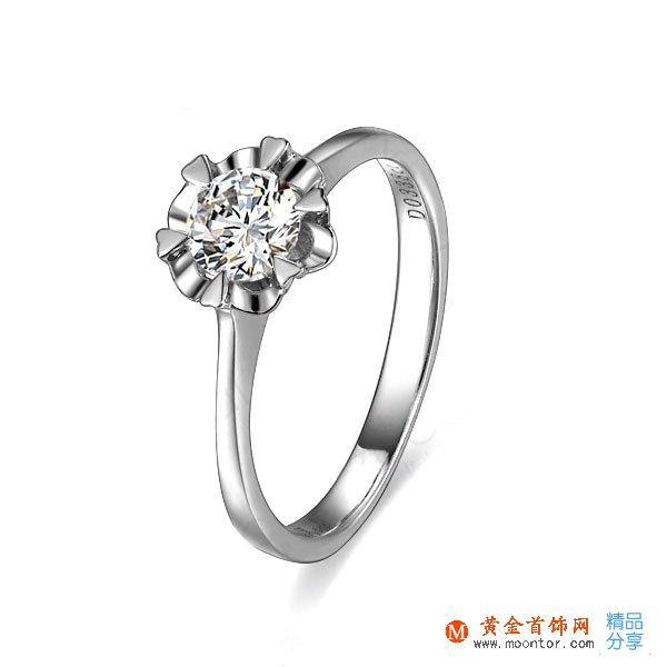 》》点击进入【雪花】 白18K金33分/0.33克拉钻石女士戒指