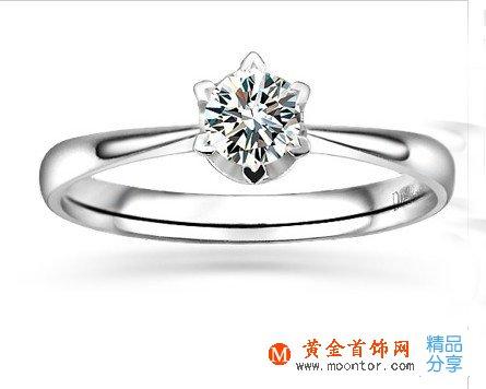 》》点击进入【一生牵绊 】 白18K金40分/0.4克拉钻石女士戒指