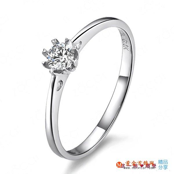 》》点击进入【梦想】 白18K金18分/0.18克拉钻石女士戒指