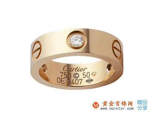卡地亚玫瑰金戒指上海价格