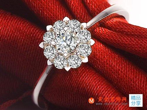 【触电】 白18K金钻石女士戒指