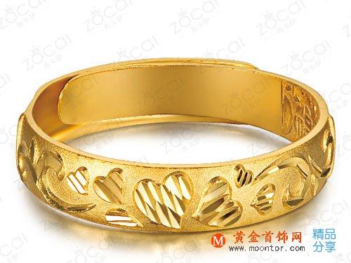 【雕刻时光】 足金/黄金戒指 男女通用款足金戒指