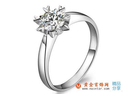 【情有独钟】 PT950铂金60分钻石戒指