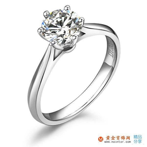 ww珠宝首饰网【挚爱】 PT950铂金30分/0.3克拉钻石女士戒指