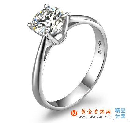【国色天香】 PT950铂金50分/0.5克拉钻石女士戒指