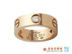 卡地亚(cartier)玫瑰金戒指价格 戒指上海价格、戒指香港价格、卡地亚戒指保