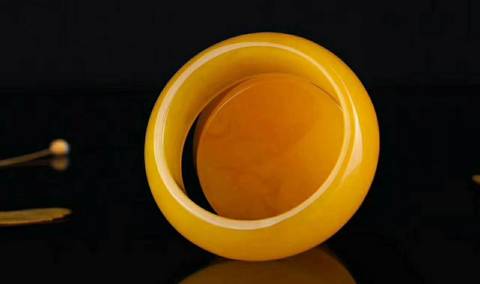 蜜蜡银手镯和戒指图片及价格